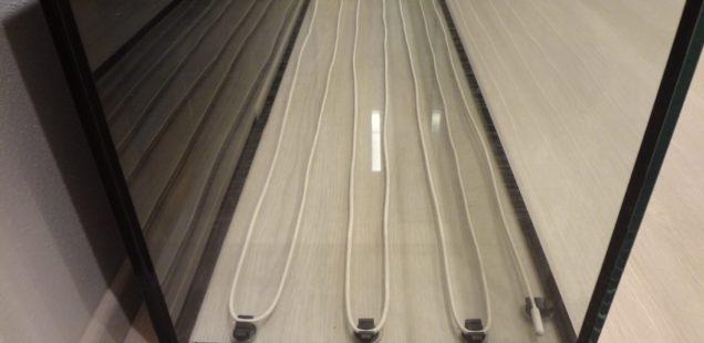 Nainstalovaný topný kabel Hydor